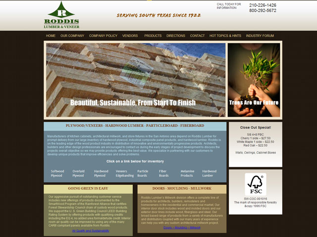 Roddis Lumber Design Portfolio