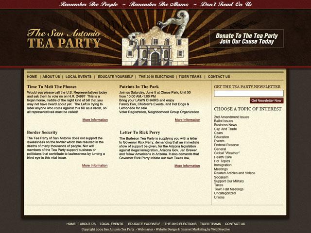 San Antonio Tea Party Design Portfolio