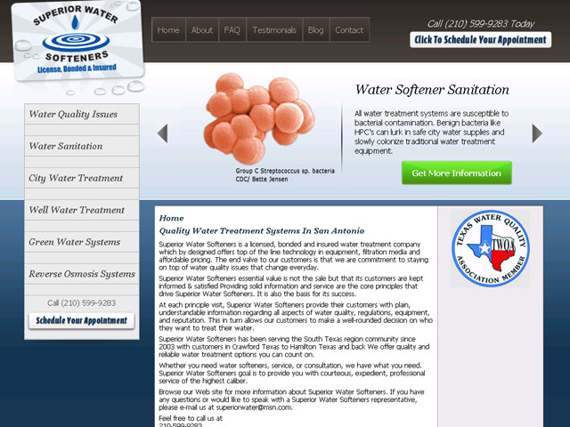 Superior Water Softeners Design Portfolio